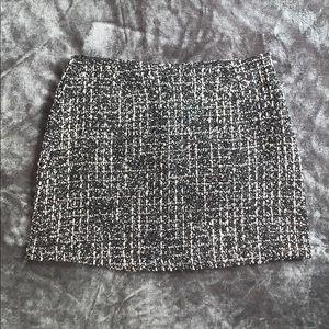 Forever 21 tweed black and white miniskirt size S